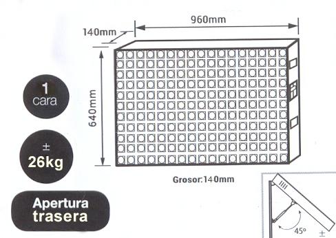 Pantalla led modular P4 Exterior - Pantallas Afiche